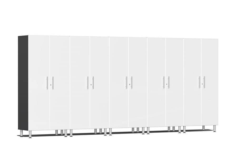 Ulti-MATE Garage 2.0 Series 5-PC Tall Cabinet Kit - Starfire White Metallic