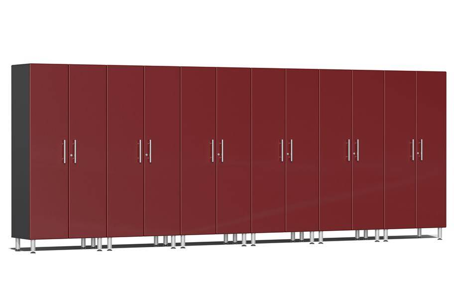 Ulti-MATE Garage 2.0 Series 6-PC Tall Cabinet Kit - Ruby Red Metallic