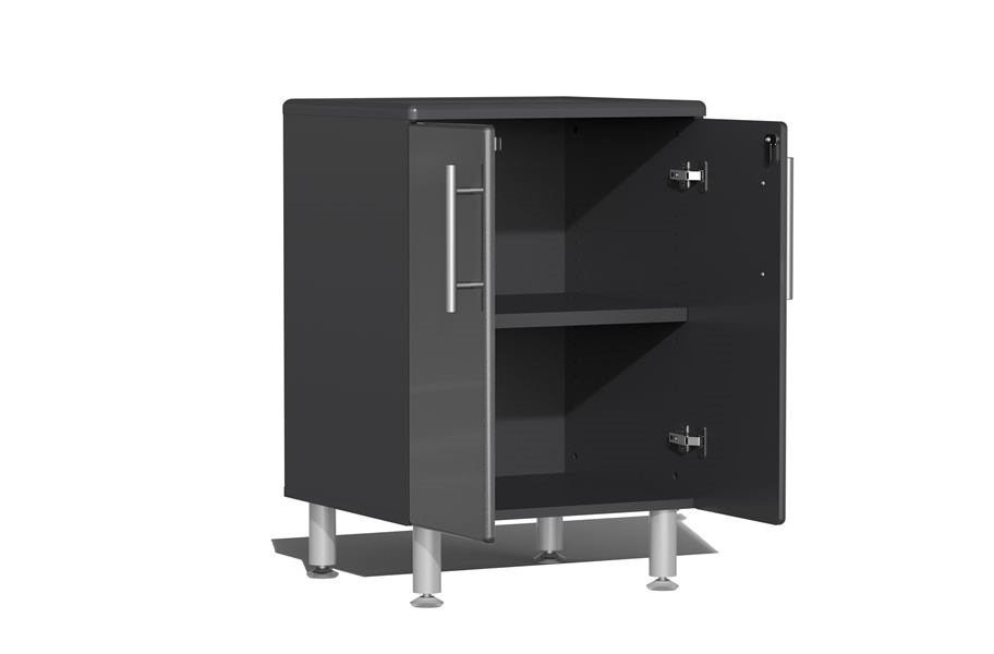 Ulti-MATE Garage 2.0 8-PC Kit w/ Bamboo Worktop - Graphite Grey Metallic