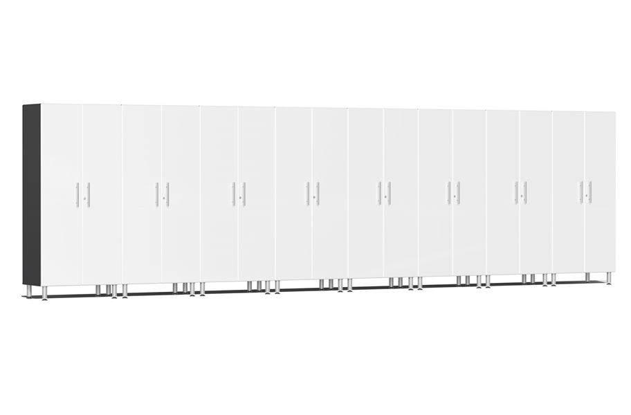Ulti-MATE Garage 2.0 Series 8-PC Tall Cabinet Kit - Starfire White Metallic