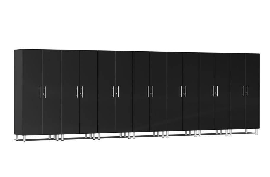 Ulti-MATE Garage 2.0 Series 8-PC Tall Cabinet Kit - Midnight Black Metallic