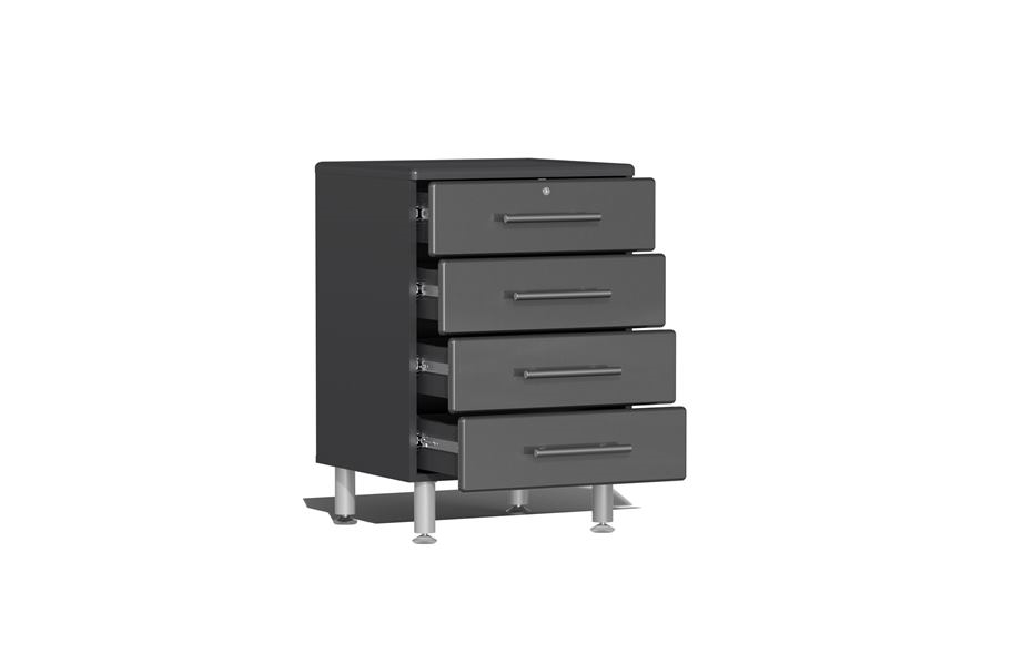 Ulti-MATE Garage 2.0 Series 4-Drawer Base Cabinet - Graphite Grey Metallic