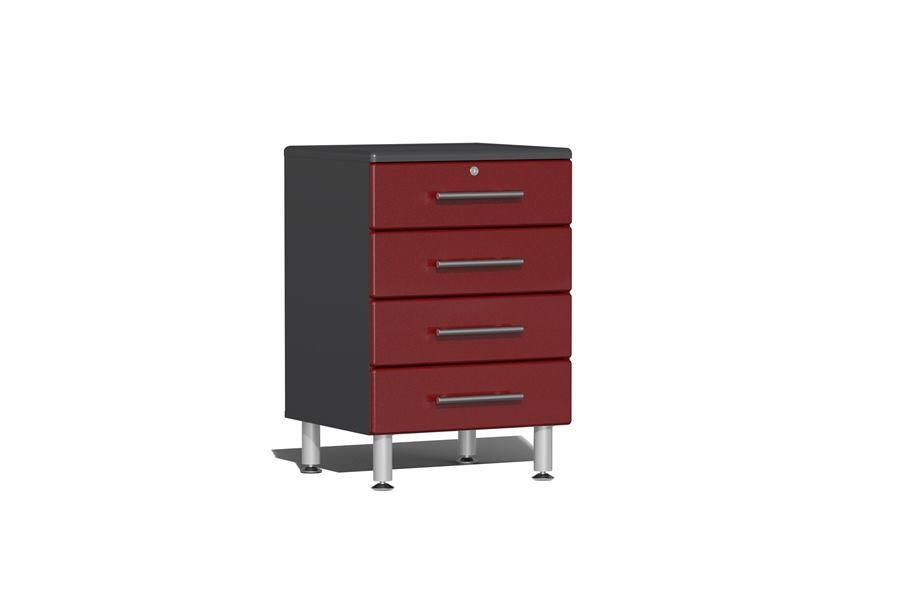 Ulti-MATE Garage 2.0 Series 4-Drawer Base Cabinet - Ruby Red Metallic