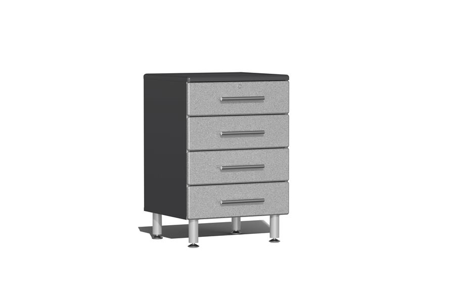 Ulti-MATE Garage 2.0 Series 4-Drawer Base Cabinet - Stardust Silver Metallic