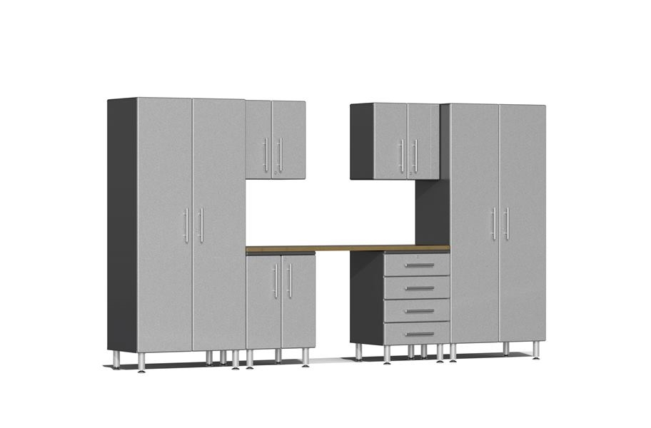 Ulti-MATE Garage 2.0 7-PC Kit w/ Workstation - Stardust Silver Metallic