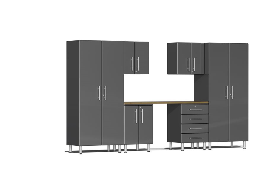 Ulti-MATE Garage 2.0 7-PC Kit w/ Workstation - Graphite Grey Metallic