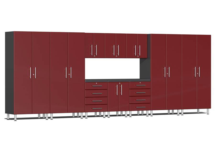 Ulti-MATE Garage 2.0 11-PC Kit w/ Workstation - Ruby Red Metallic