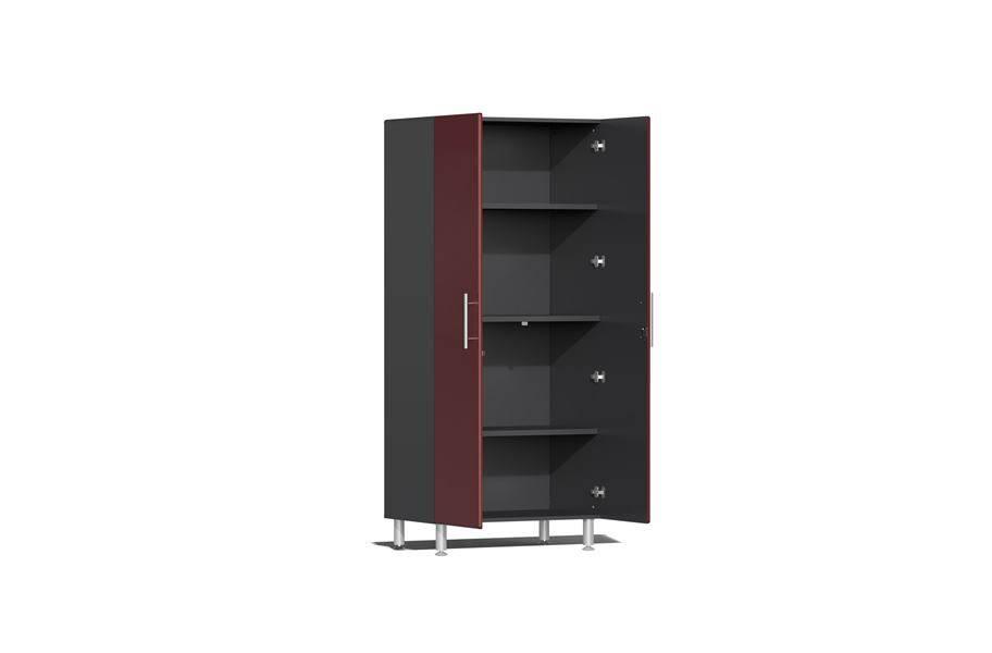 Ulti-MATE Garage 2.0 Series 4-PC Tall Cabinet Kit - Ruby Red Metallic