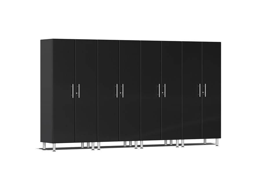 Ulti-MATE Garage 2.0 Series 4-PC Tall Cabinet Kit - Midnight Black Metallic