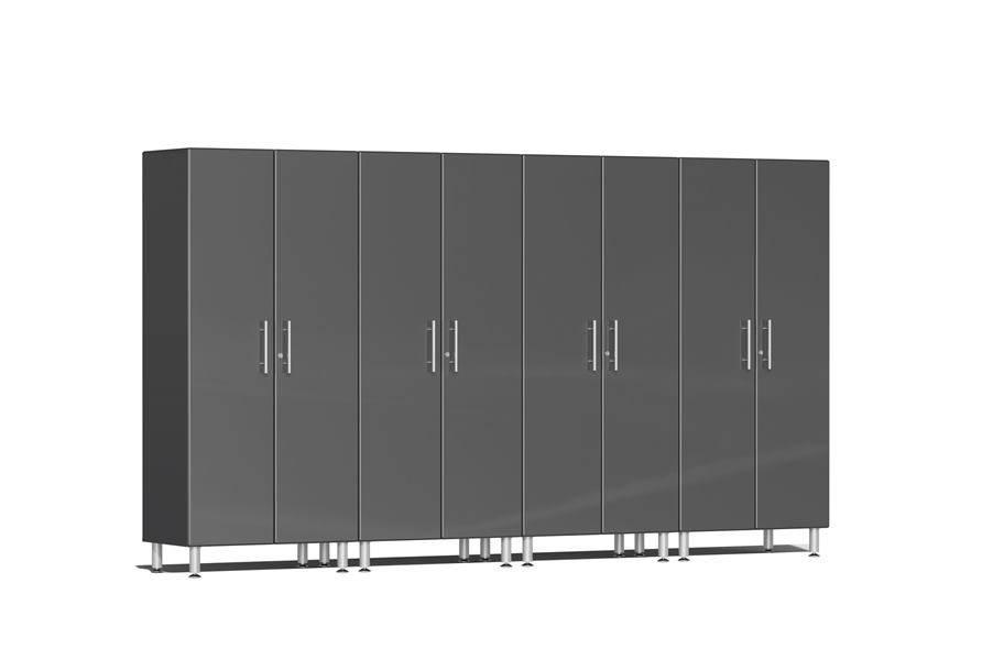 Ulti-MATE Garage 2.0 Series 4-PC Tall Cabinet Kit - Graphite Grey Metallic