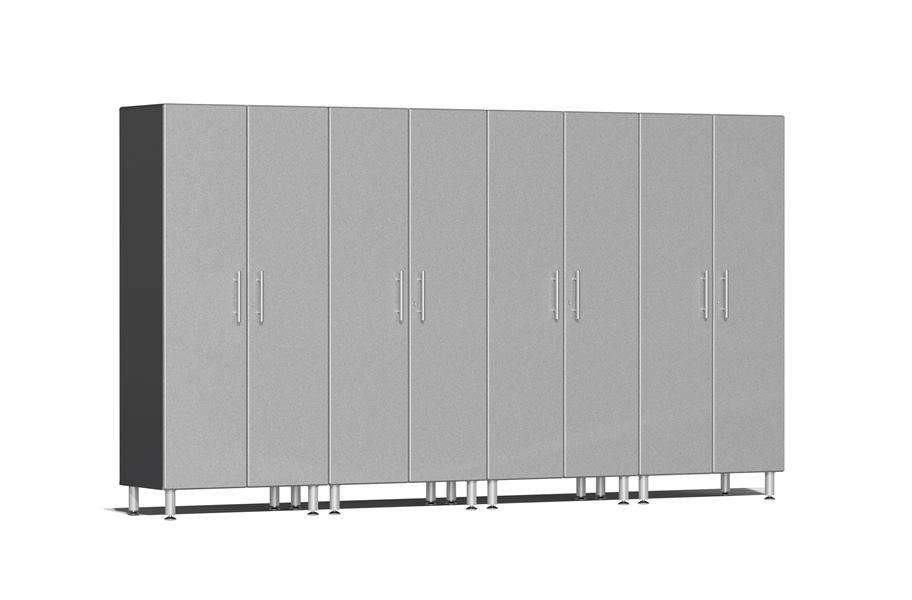 Ulti-MATE Garage 2.0 Series 4-PC Tall Cabinet Kit - Stardust Silver Metallic