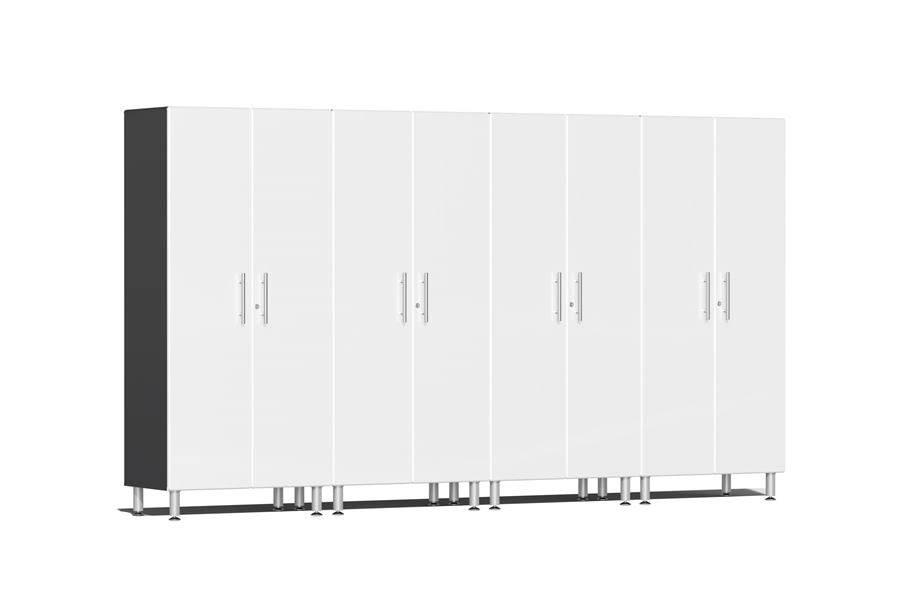 Ulti-MATE Garage 2.0 Series 4-PC Tall Cabinet Kit - Starfire White Metallic