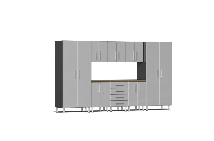 Ulti-MATE Garage 2.0 9-PC Bamboo Worktop Kit - Stardust Silver Metallic