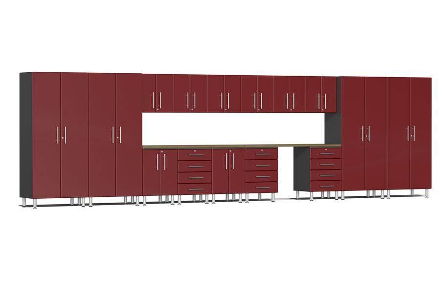 Ulti-MATE Garage 2.0 Series 17-Piece Super-System - Ruby Red Metallic