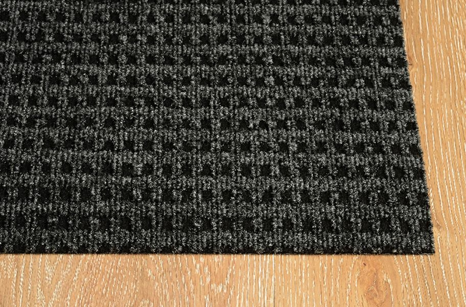 Pindot Charcoal Outdoor Patio Rugs