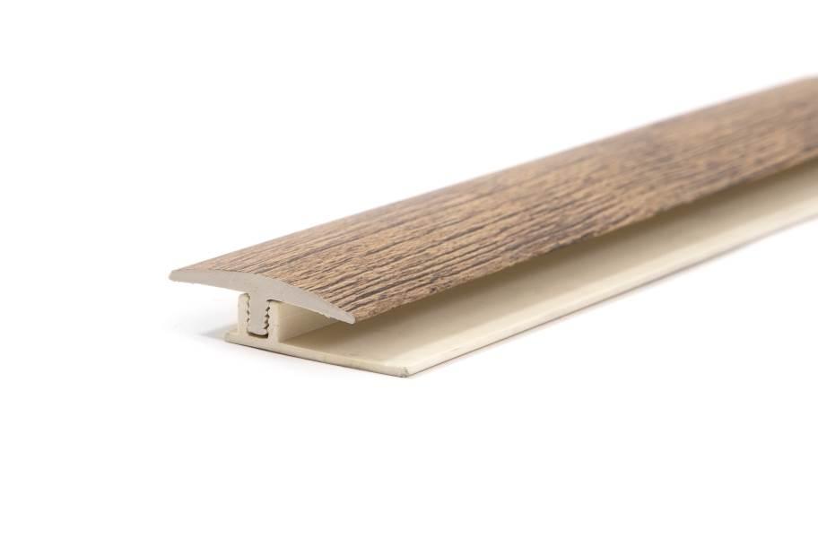 """TritonCORE 1.65"""" x 94"""" T-Molding & Track - Harbor Grey Oak"""