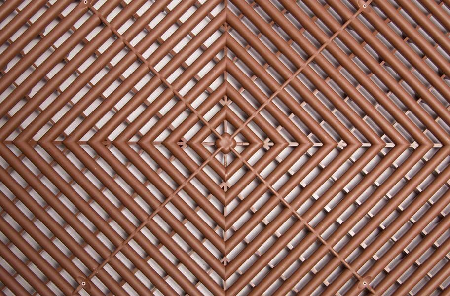 Swisstrax Garage Tiles - Chocolate Brown