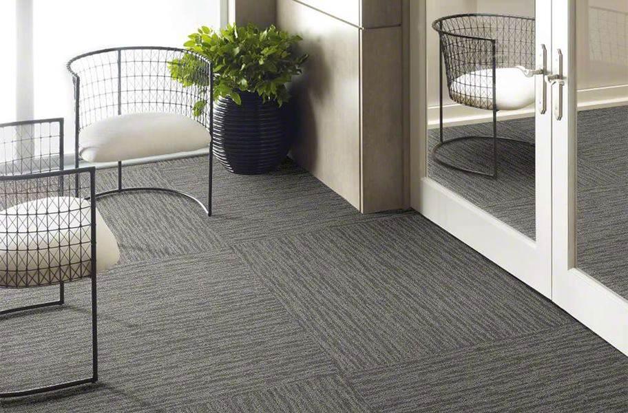 Shaw Floorigami Dynamic Vision Carpet Plank - Ground Fog