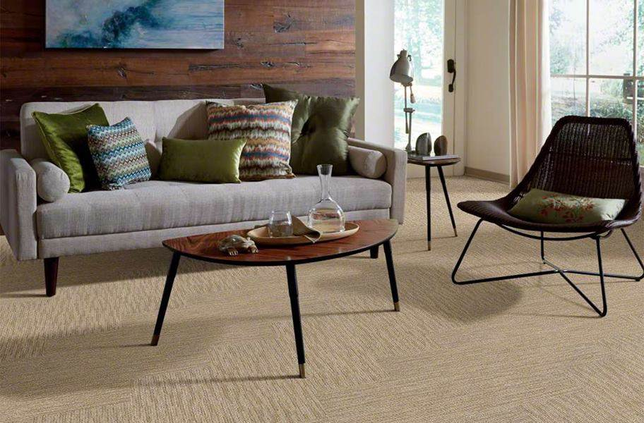 Shaw Floorigami Dynamic Vision Carpet Plank - Spice Cookie