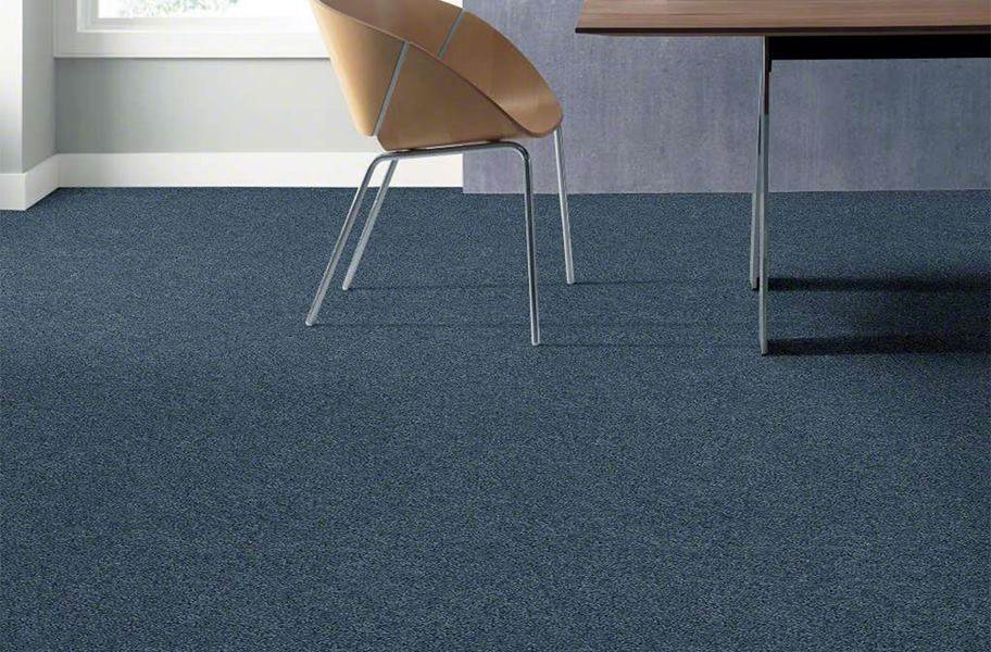 Shaw Floorigami Plume Perfect Carpet Tile - Peacock