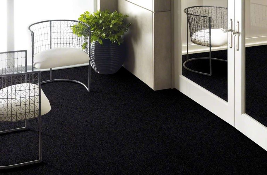 Shaw Floorigami Plume Perfect Carpet Tile - Raven