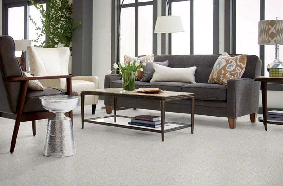 Shaw Floorigami Plume Perfect Carpet Tile - Feather Grey