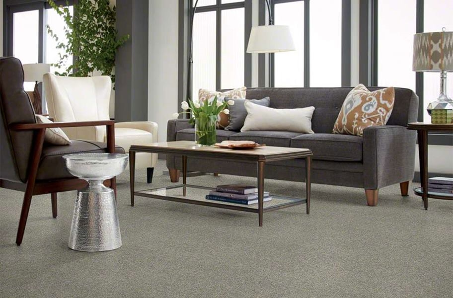 Shaw Floorigami Stay Toned Carpet Tile - Charcoal Biscotti