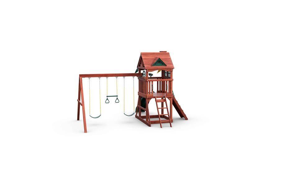 Nantucket Wooden Swing Set - Rear View