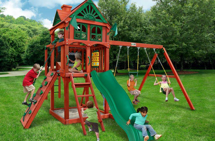 Five Star II Wooden Swing Set