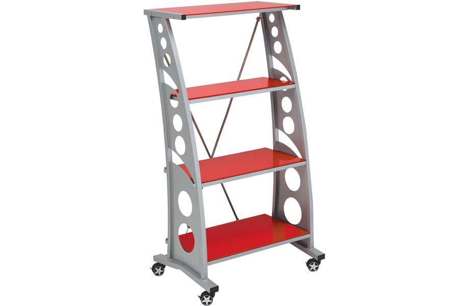 PitStop Chicane Bookshelf - Red