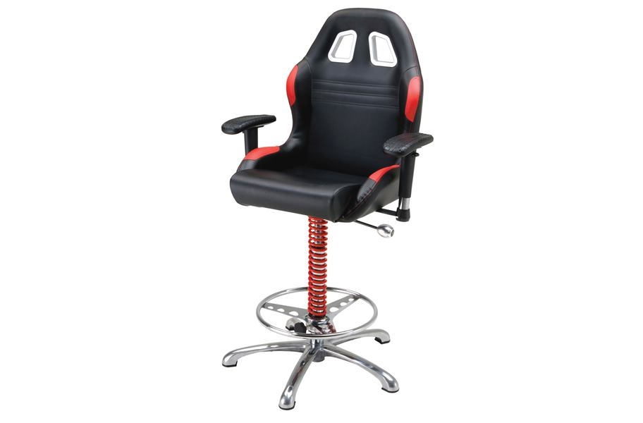 PitStop Crew Chief Bar Chair - Red