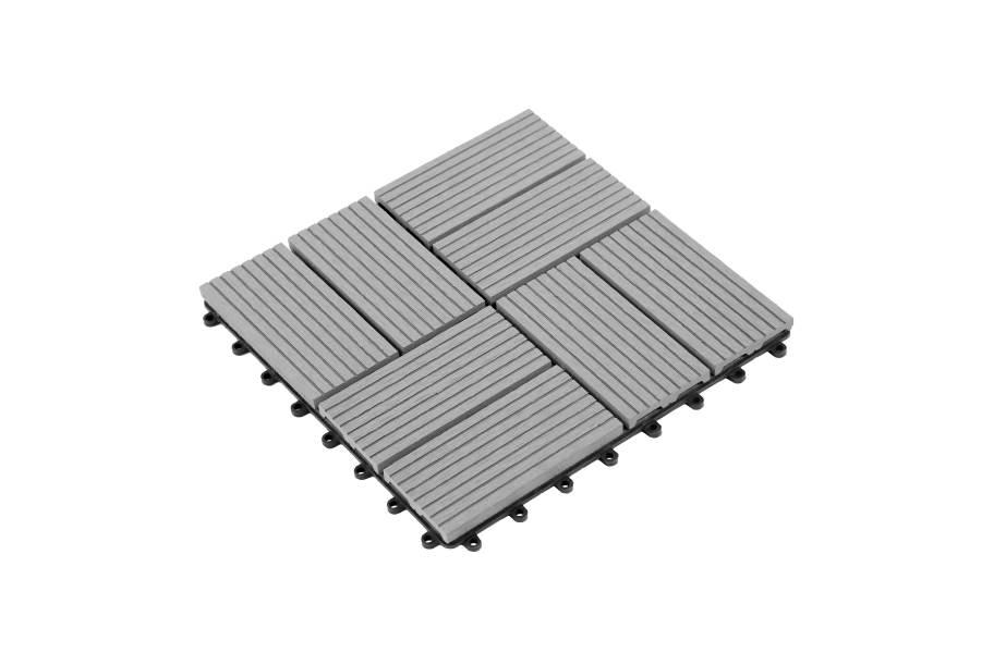 Helios Deck Tiles (8 Slat) - Gray