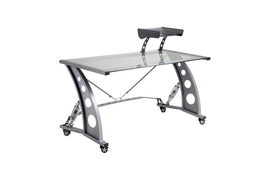 PitStop GT Spoiler Desk - Clear