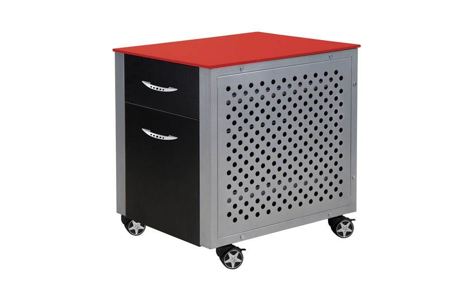 PitStop File Cabinet - Red