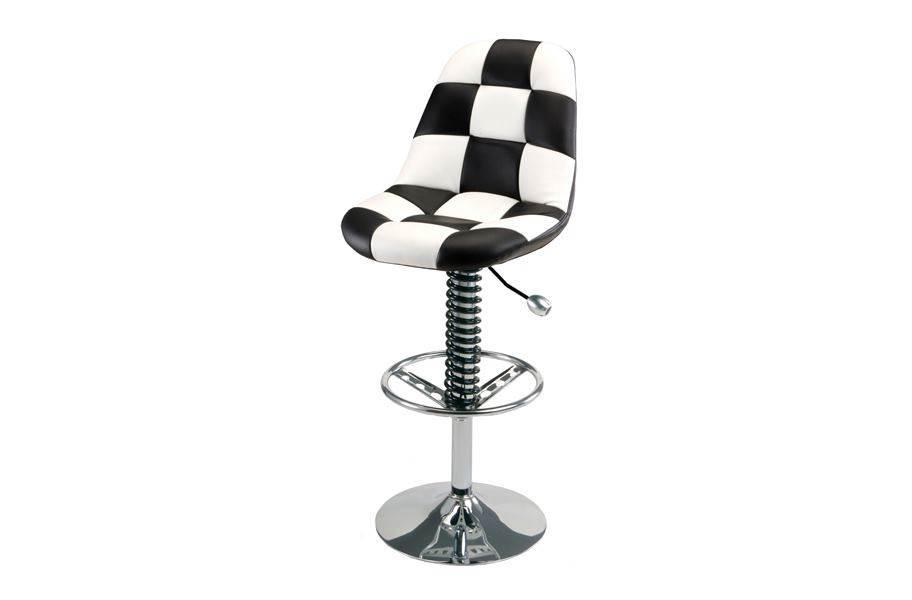 PitStop Pit Crew Bar Chair - White/Black