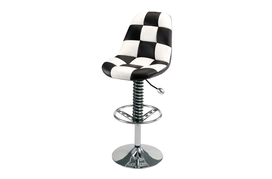 PitStop Pit Crew Bar Chair - White/Black