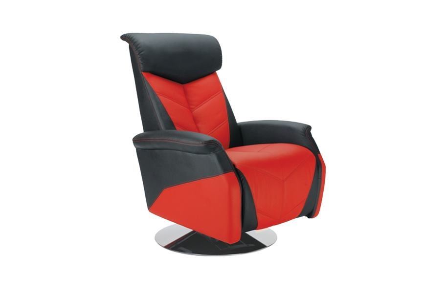 PitStop RRC Racing Recliner Chair - Black/Red