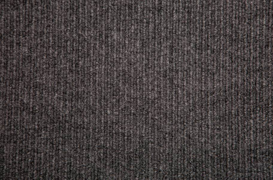 Infinity Cord Ribbed Carpet Tiles - Overstock - Gunmetal
