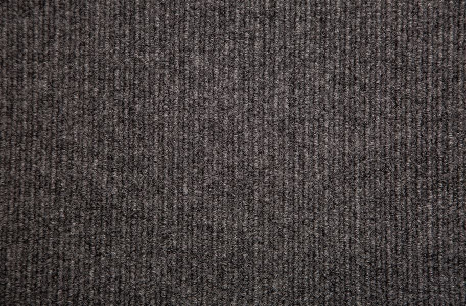 Infinity Cord Ribbed Carpet Tiles - Overstock - Gunmetal