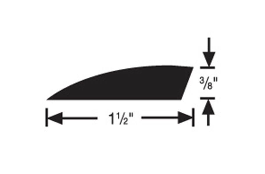 """FLEXCO #177A 3/8"""" Carpet Edge Reducer 12'"""