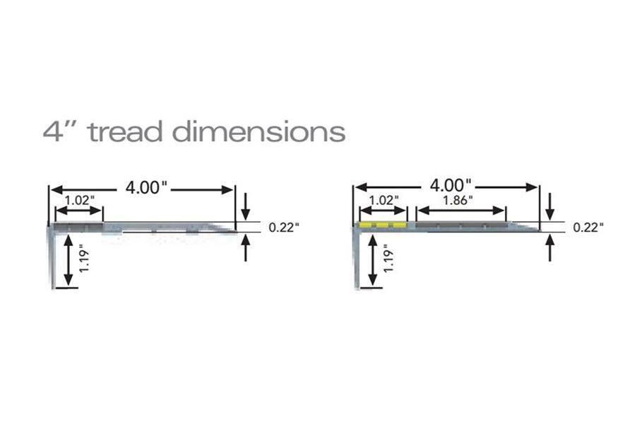 FlexTerior Metal Stair Tread & Nosing