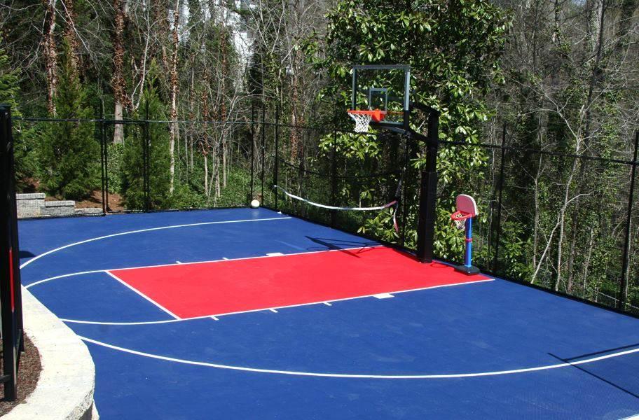 Outdoor Basketball Court Kits Diy, Outdoor Concrete Basketball Court Paint