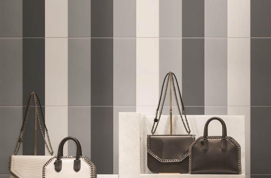 Daltile Color Wheel Wall Tile - Matte Arctic White, Matte Urban Putty, Matte Chalkboard