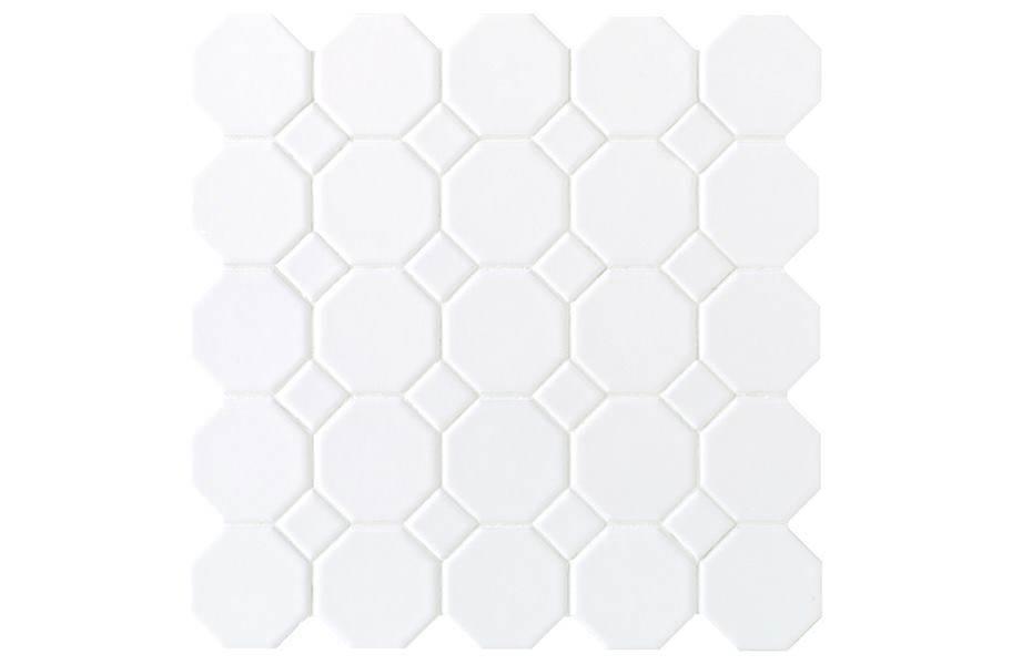 Daltile Octagon Dot - White Octagon/ White Matte Dot