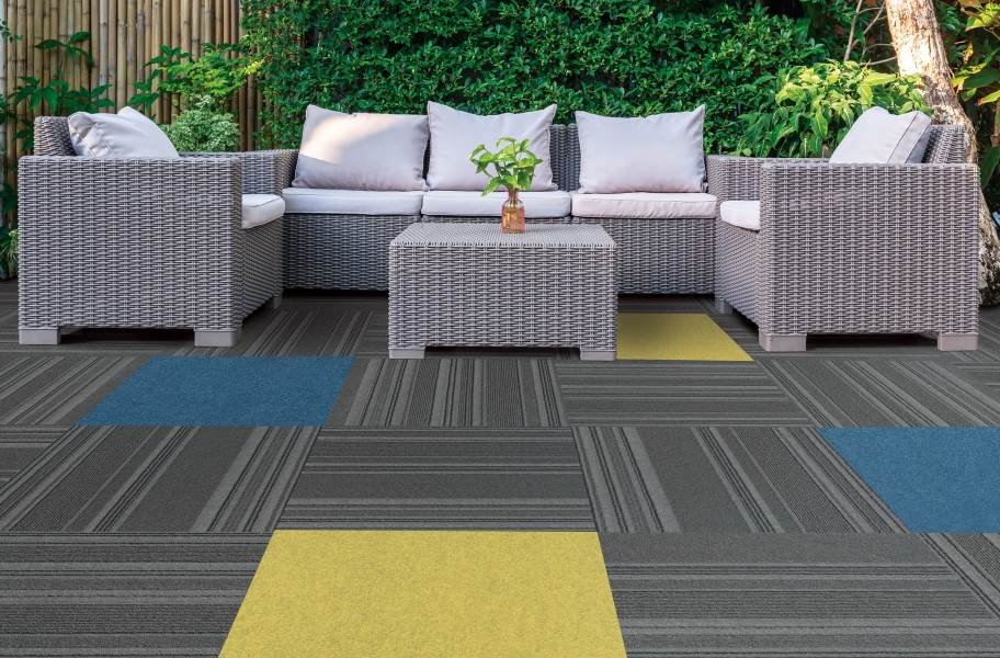 Peel & Stick Accent Carpet - Matisse, Goldenrod, & On Trend in Shadow