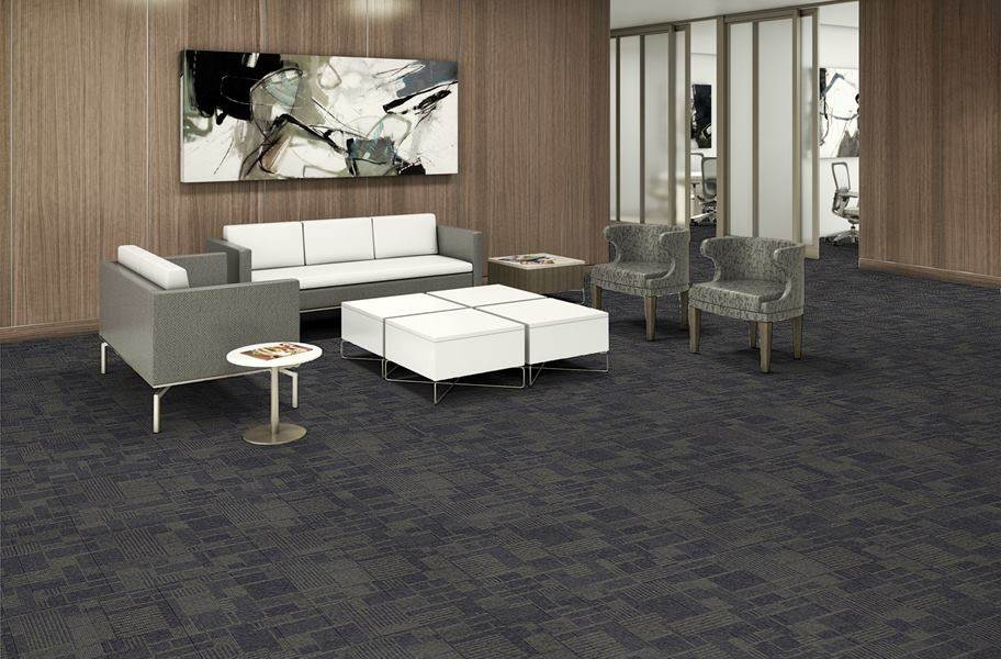 EF Contract Checkmate Carpet Tiles - Star Sapphire