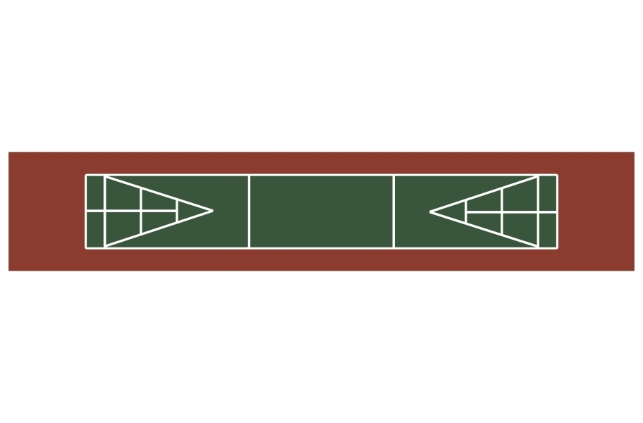 Shuffleboard Court Kit - Brick Red