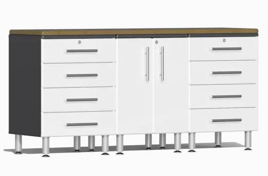 Ulti-MATE Garage 2.0 4-PC Workstation Kit - Starfire White Metallic v2