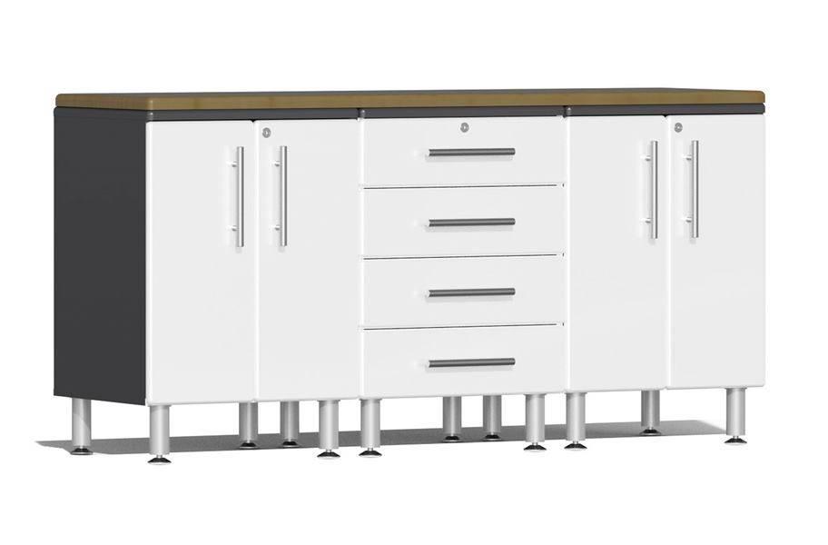 Ulti-MATE Garage 2.0 4-PC Workstation Kit - Starfire White Metallic