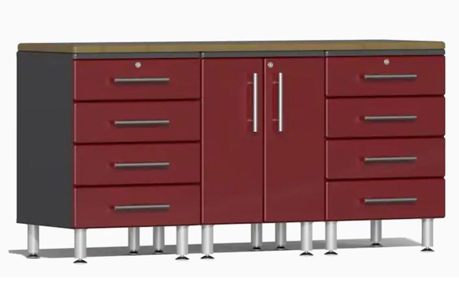 Ulti-MATE Garage 2.0 4-PC Workstation Kit - Ruby Red Metallic v2